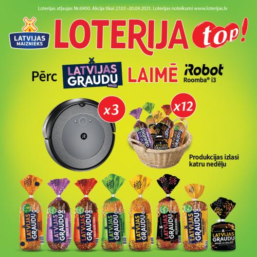 Лотерея Latvijas Graudu в магазинах TOP!