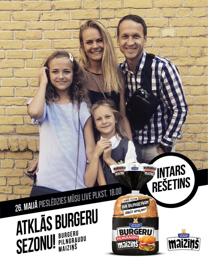Готовим вместе с Maiziņš Pilngraudu burgers и Intars Rešetins!