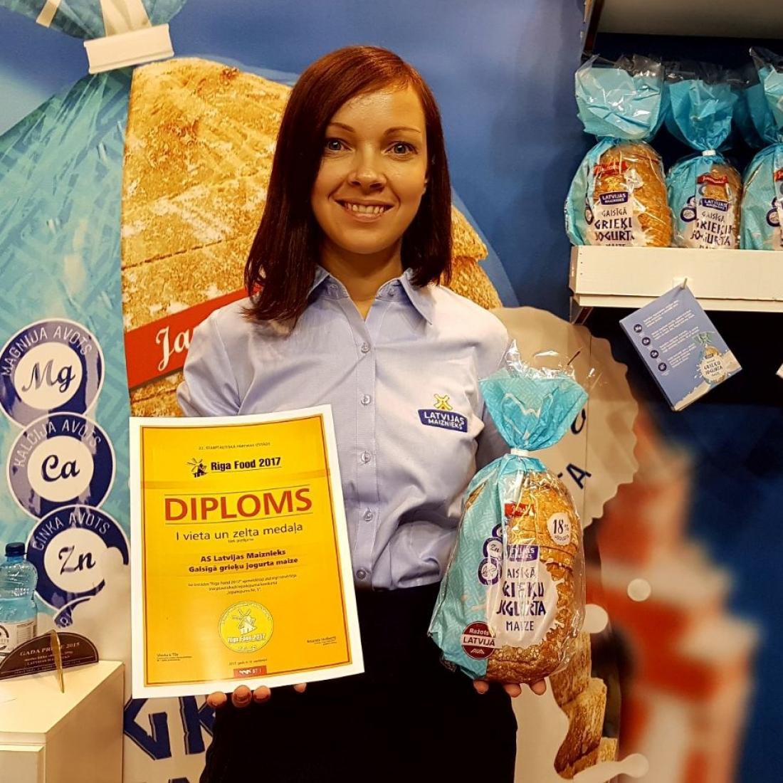 Izstādē RIGA food Grieķu jogurta maize iegūst zelta diplomu