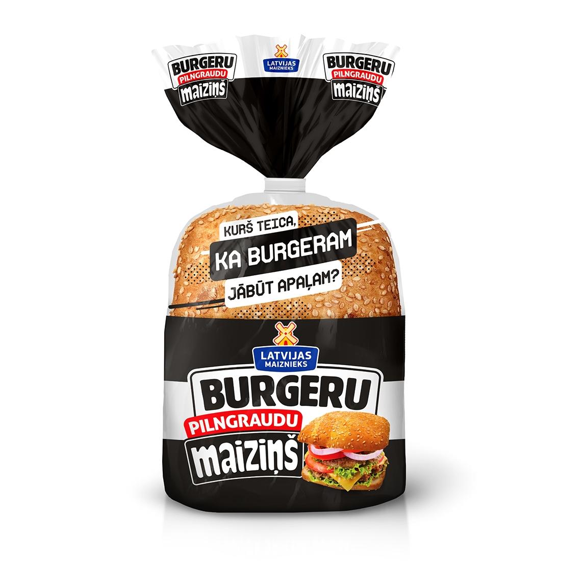 Maiziņš Whole grains burger 240g