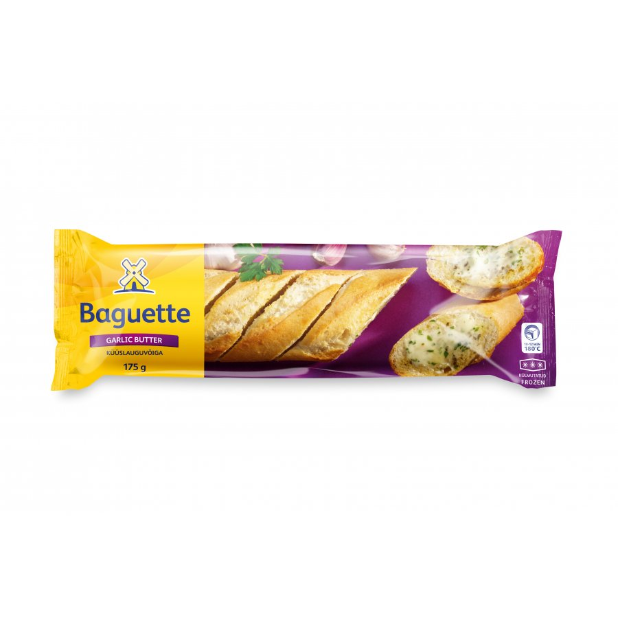 Baguette with garlic butter filling