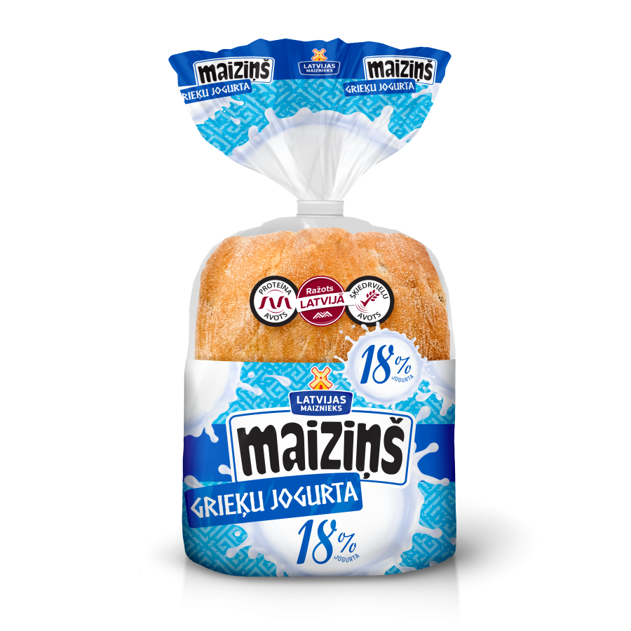 """""""Maiziņš"""" Greek yogurt buns"""