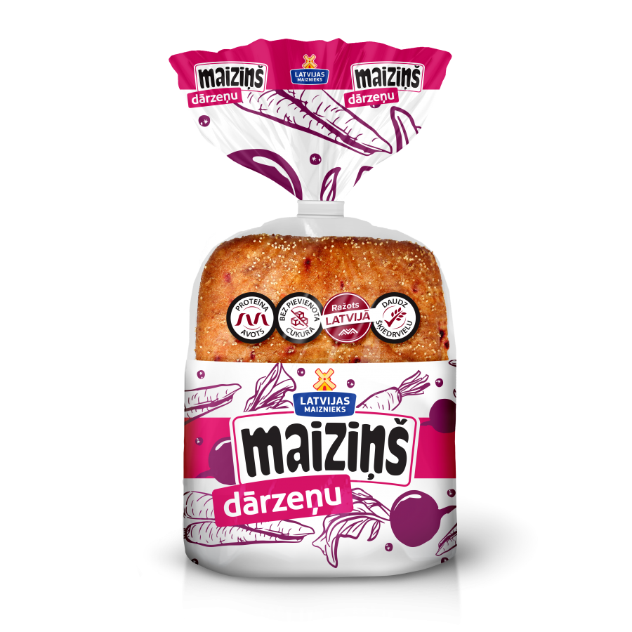 """""""Maiziņš"""" with vegetables"""