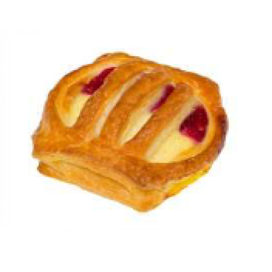 Mini cottage cheese cherry pastry