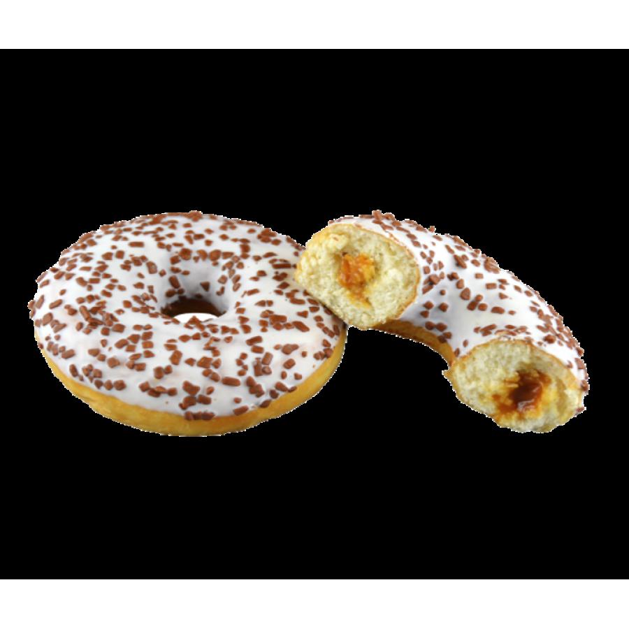Пончик с начинкой из карамели