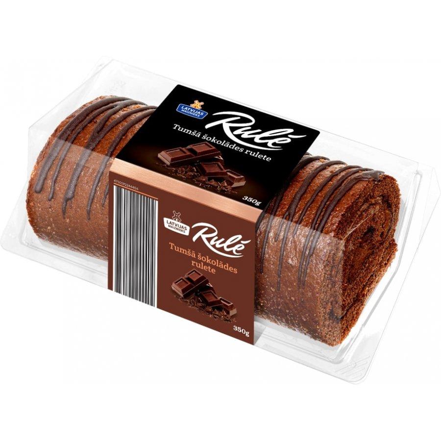 """Tumšā šokolādes rulete """"RULĒ"""""""