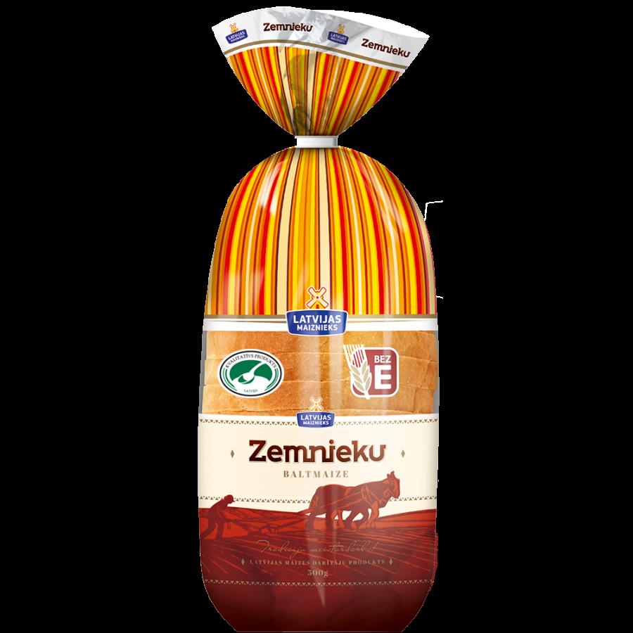 Белый хлеб Zemnieku (Продукт с зелёной ложечкой)